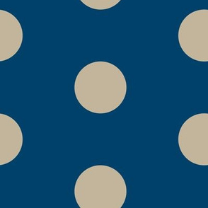 18-03s Jumbo Large Navy Tan Polka Dot _ Miss Chiff Designs