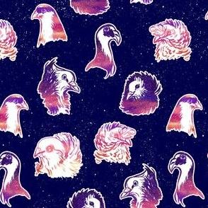 Vaporwave Fancy Pigeons