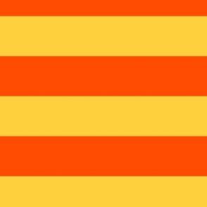 Large Bold Orange and Yellow Stripes