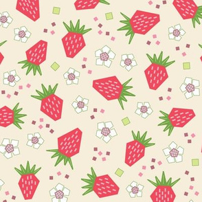 Geometric Strawberries (Pinky)