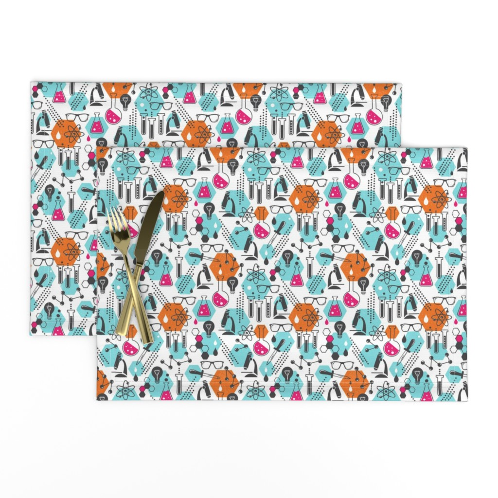 Lamona Cloth Placemats featuring Chemistry Lab - Modern Girl Small Scale by heatherdutton