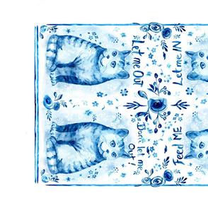 Cat Message Tea Towel