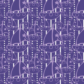 Sail Boat in Purple and white