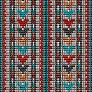 Aztec beads colorful triangle rows Fabric
