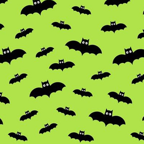 tiny bats lime green 60% smaller » halloween