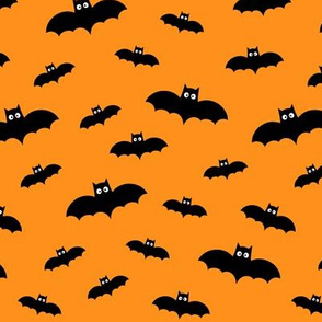 tiny bats orange 60% smaller » halloween