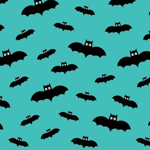 tiny bats teal 60% smaller » halloween