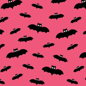 tiny bats hot pink 60% smaller » halloween