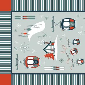 Vintage Ski TEA TOWEL (Classic)