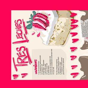 Recipe for Tres Leches Cake - Tea towel