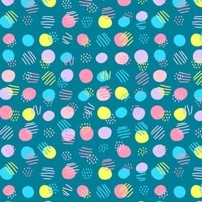 Funny polka dot on dark