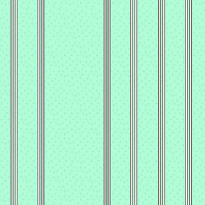 Mini starburst pink stripes on mint