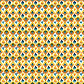 Small scale colorful navajo diamonds orange Fabric