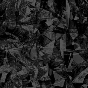 Nautical Ocean black dark gray night small format