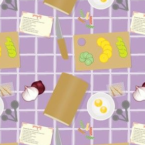 Cooking, Baking & Recipes in purple