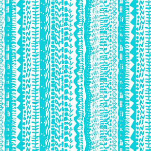 Tribal abstract Turquoise vertical