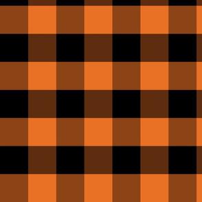 orange and black plaid gingham