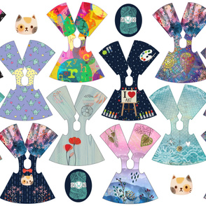 Crafty Collection 14 inch doll dresses