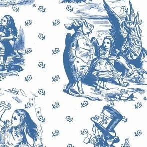 Alice toile blue and white