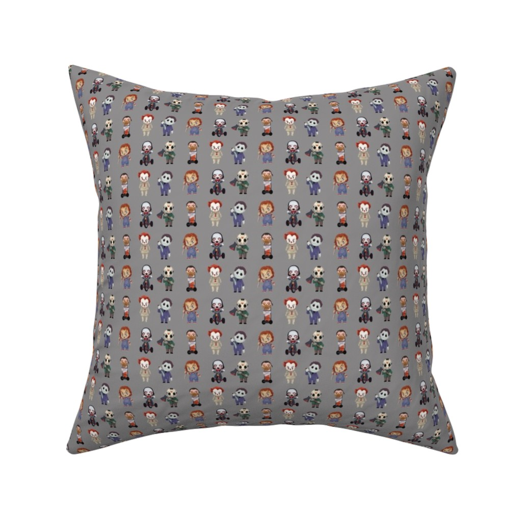 Catalan Throw Pillow featuring Serial Killers small scale  by mariospeedwagon