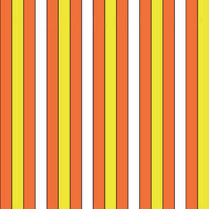 Candy corn stripes (outlined)