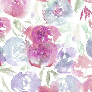 Saturated floral pattern