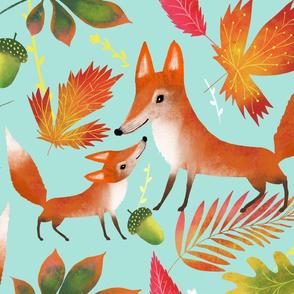 Fox in colourful Fall
