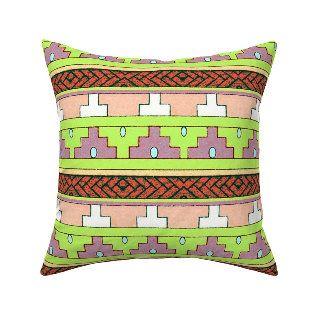 Catalan Throw Pillow featuring primitif 100 by hypersphere