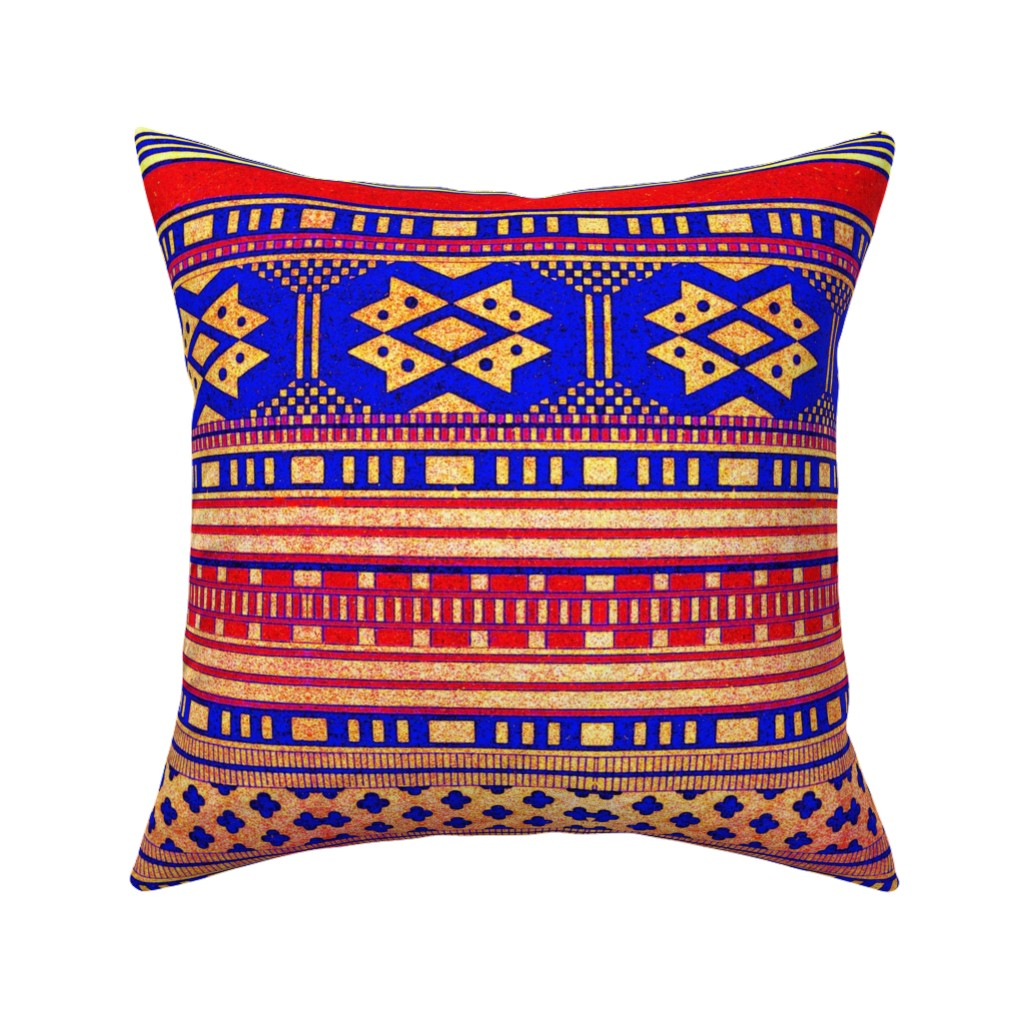 Catalan Throw Pillow featuring primitif 106 by hypersphere