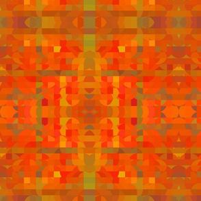 Bright Orange and Green Geometric