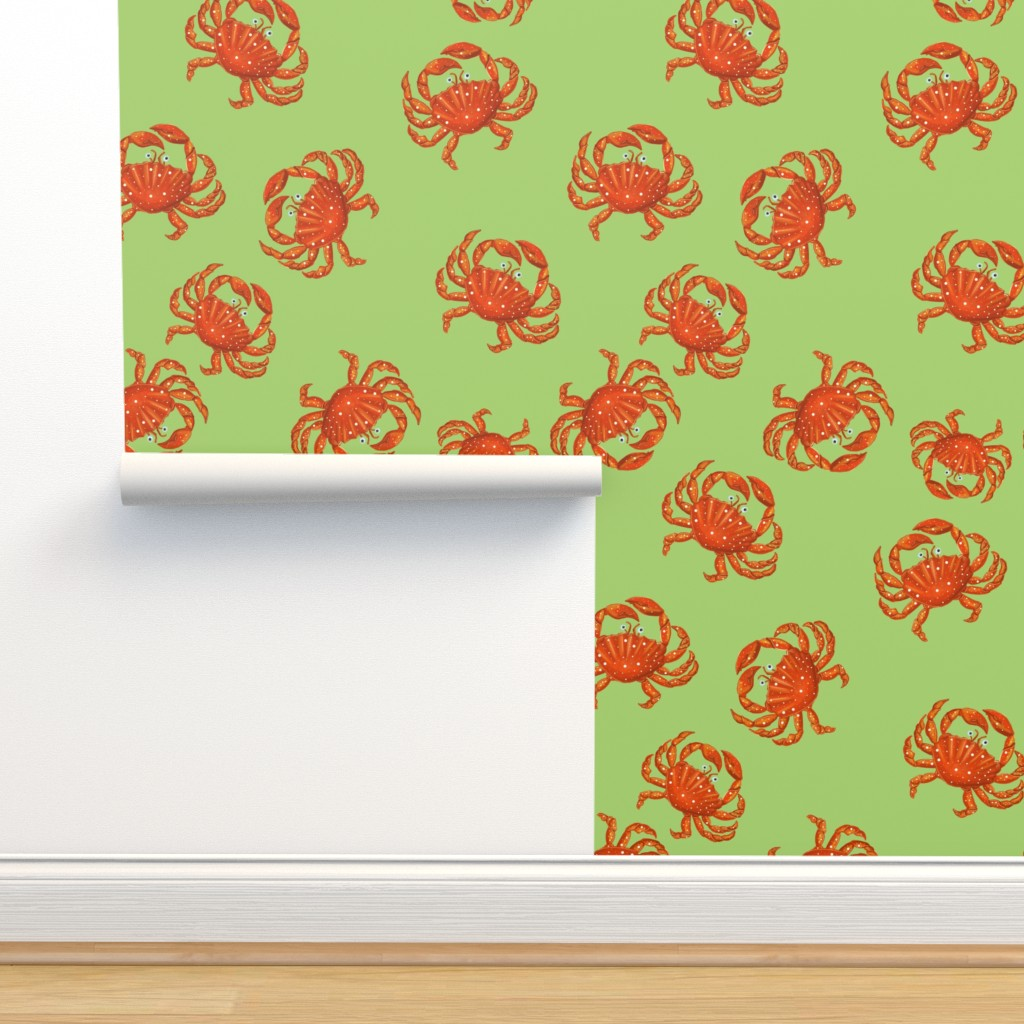 Isobar Durable Wallpaper featuring Crab on the beach  by nina_savinova