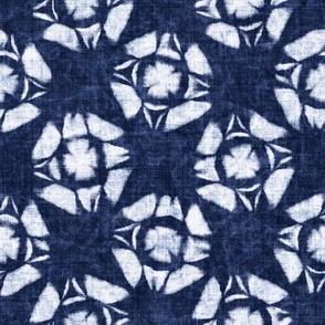 Shibori Floral Checked Motif