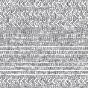 mud cloth stripes - mudcloth woven grey
