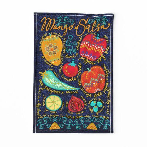 Mango Salsa tea-towel