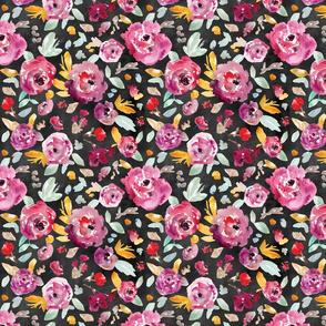 Rosey Jewel Watercolor Floral