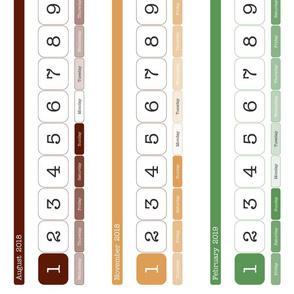 Montessori Year Calendar - 1