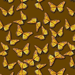 Bring on the Monarch Butterflies (Warm Brown)