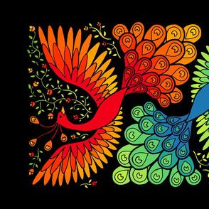 phoenix and peacock