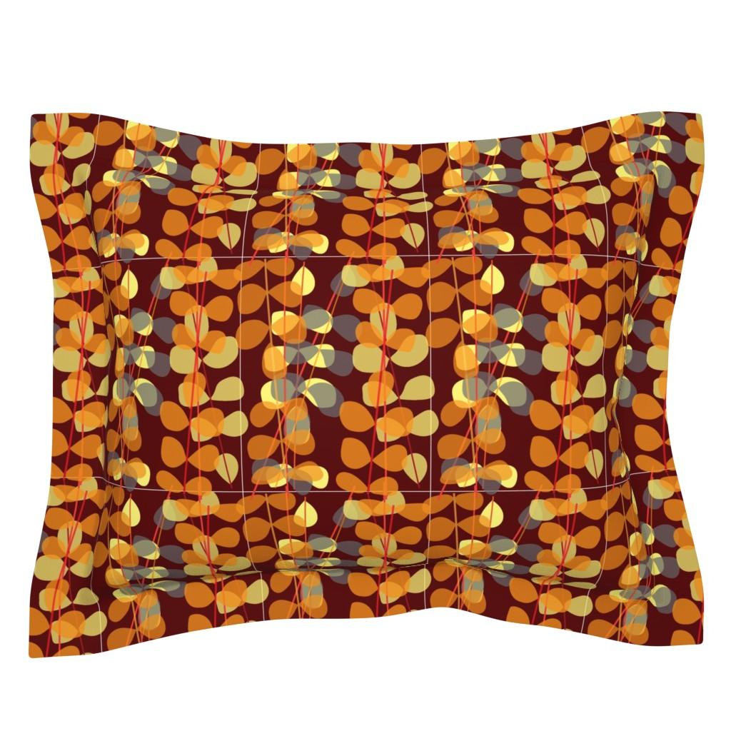 Sebright Pillow Sham featuring Vintage Retro SF015 by do_mod_design