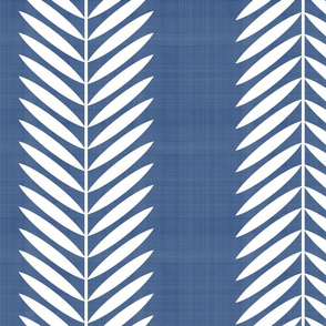 LAUREL LEAF STRIPE on BLUE
