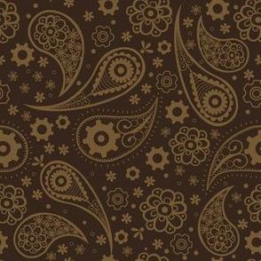 Paisley Steampunk Brown
