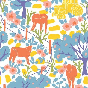 Cows and Apple Trees