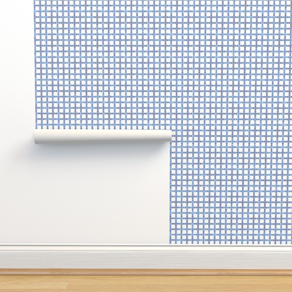 Isobar Durable Wallpaper featuring Moderne Windowpane in Blue by gigi&mae