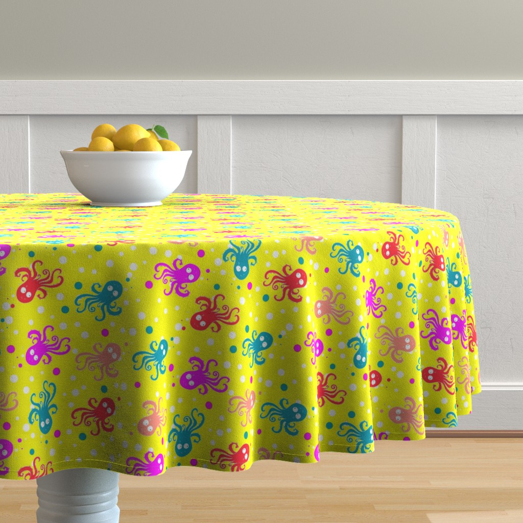 Malay Round Tablecloth featuring See life pattern by nina_savinova