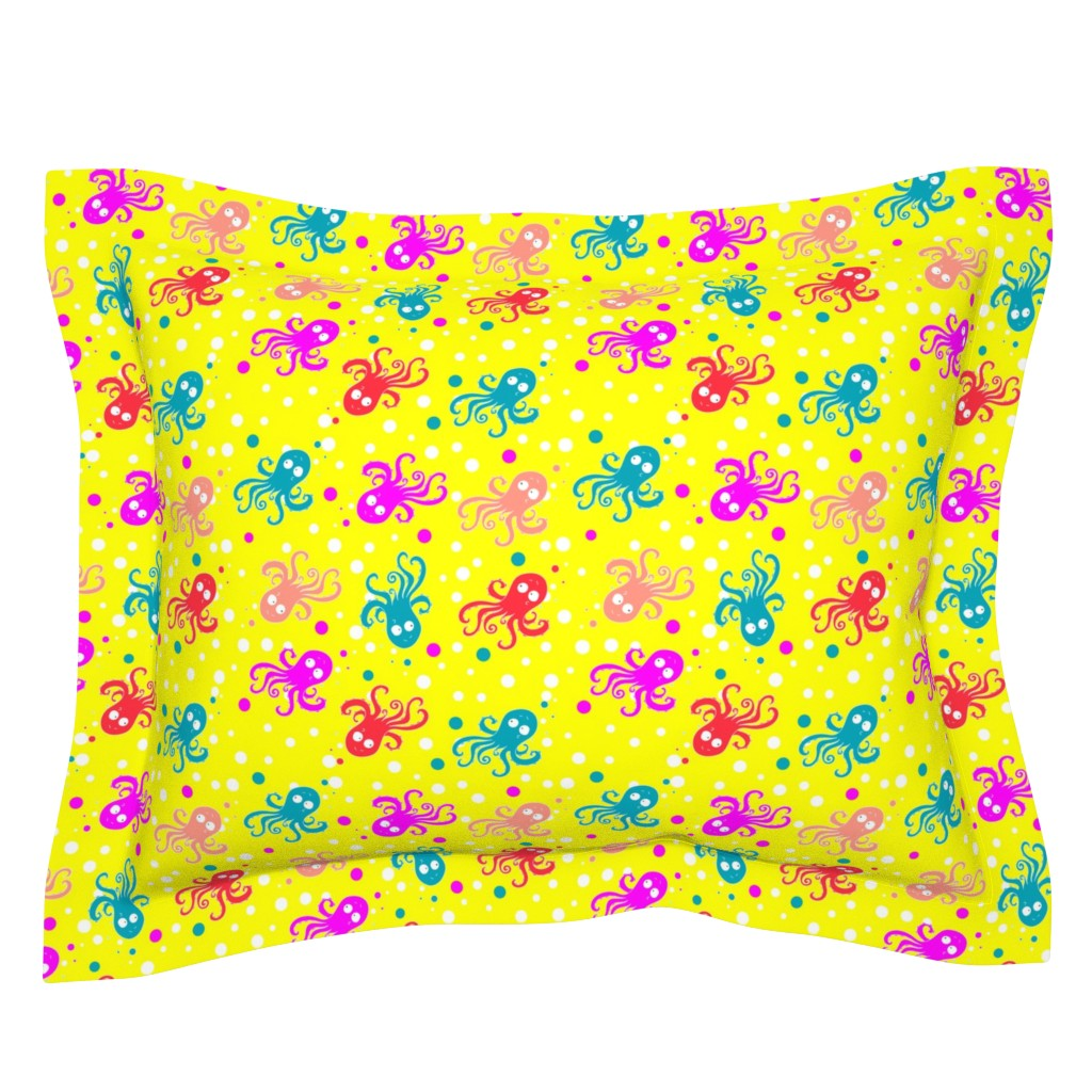 Sebright Pillow Sham featuring See life pattern by nina_savinova
