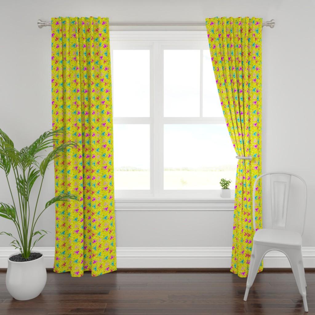 Plymouth Curtain Panel featuring See life pattern by nina_savinova