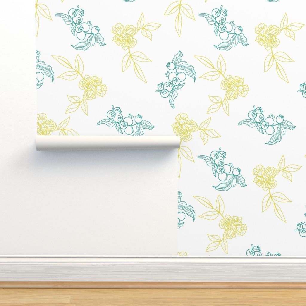 Isobar Durable Wallpaper featuring Floral vintage pattern by nina_savinova