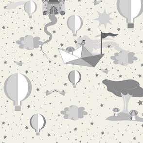 Paper Dreams Gender Neutral Nursery Wallpaper design challenge
