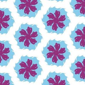purple floral white hex
