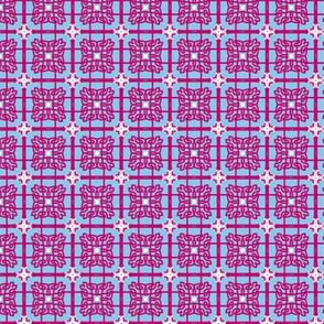 pink blue whtie lace